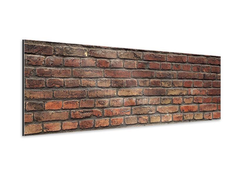 Aluminiumbild Panorama Brick Wall