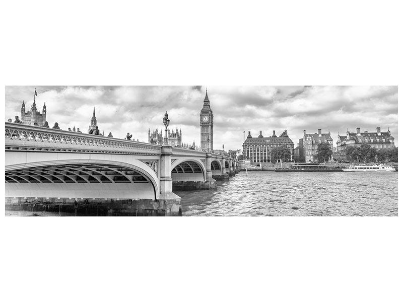 Aluminiumbild Panorama Westminster Bridge