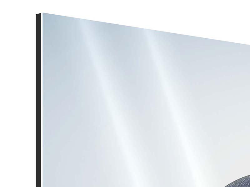 Aluminiumbild Panorama Steinbalance