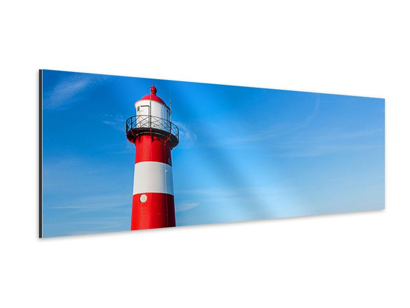 Aluminiumbild Panorama Sommer beim Leuchtturm