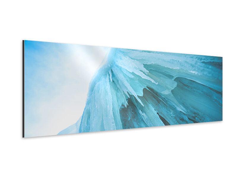 Aluminiumbild Panorama Die Eiswand