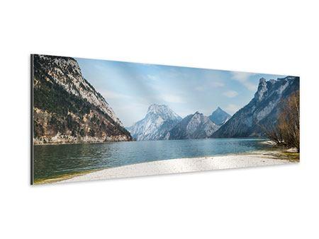 Aluminiumbild Panorama Der idyllische Bergsee