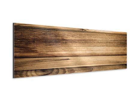 Aluminiumbild Panorama Holztrend