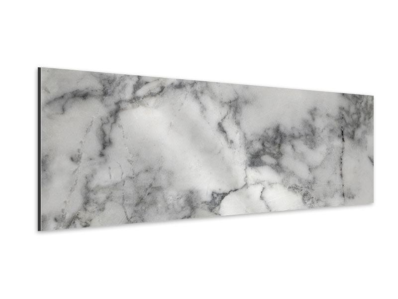 Aluminiumbild Panorama Klassischer Marmor