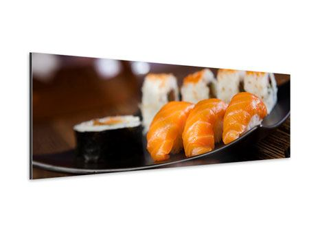 Aluminiumbild Panorama Sushi-Gericht