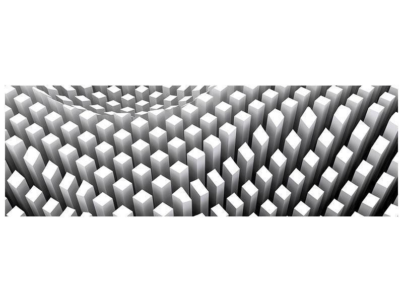 Aluminiumbild Panorama 3D-Rasterdesign