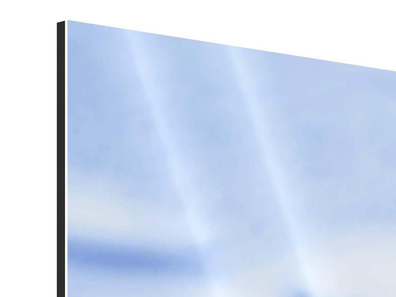 Aluminiumbild Panorama Eiswürfel