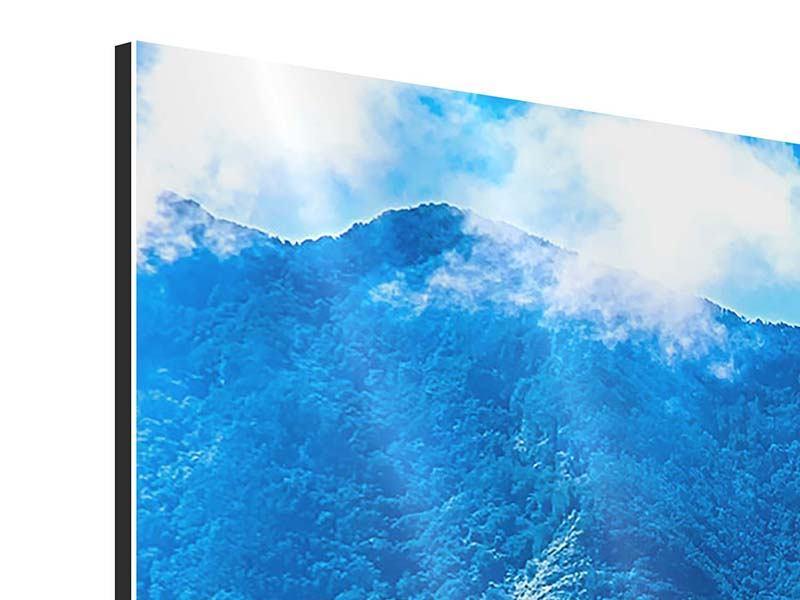 Aluminiumbild Panorama Die Berglandschaft
