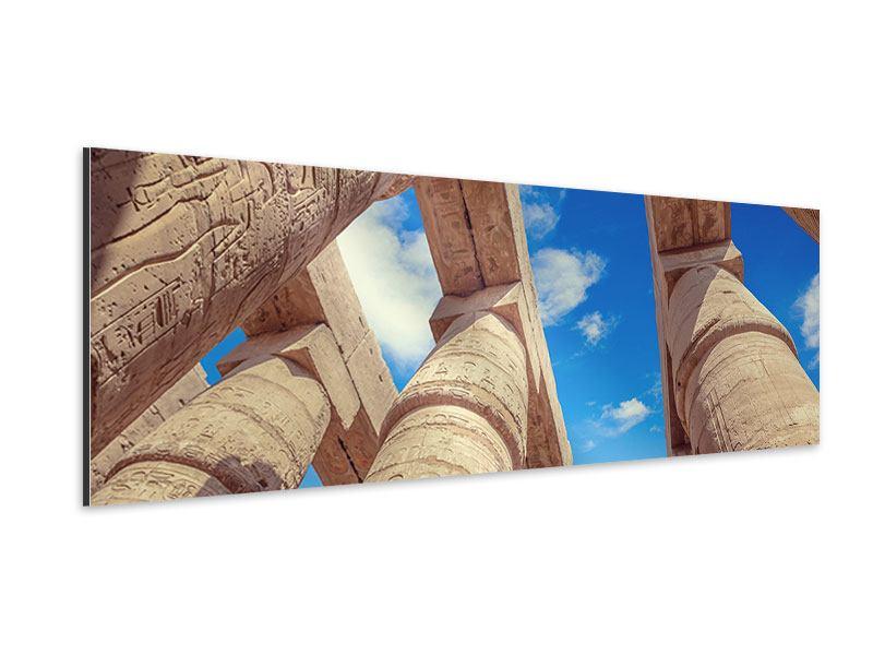 Aluminiumbild Panorama Tempelsäulen
