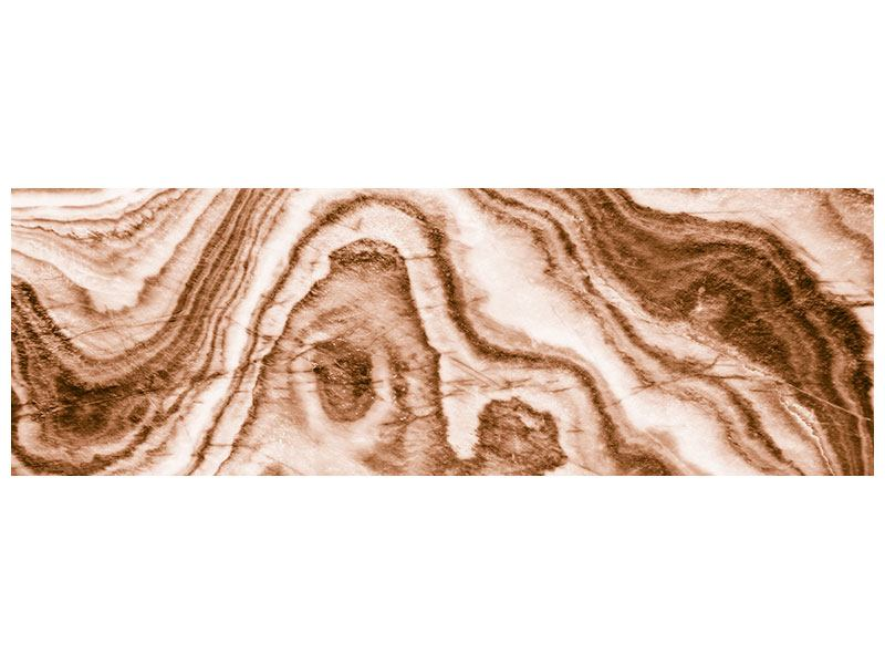 Aluminiumbild Panorama Marmor in Sepia