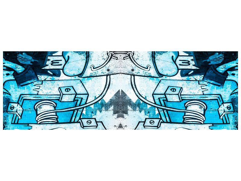 Aluminiumbild Panorama Graffiti