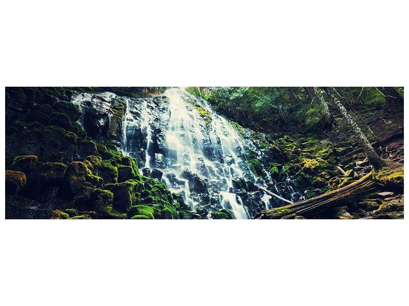 Aluminiumbild Panorama Feng Shui & Wasserfall