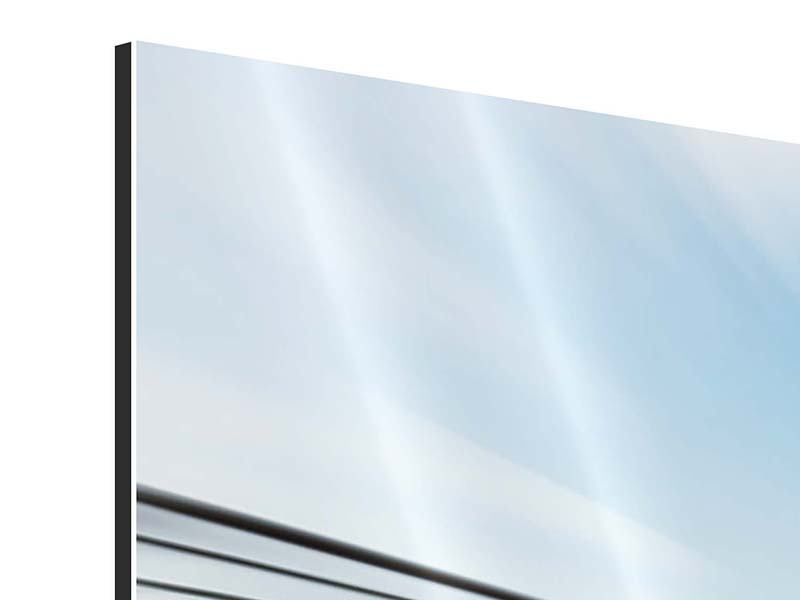 Aluminiumbild Panorama Rennwagen