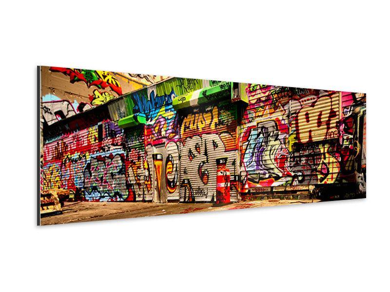 Aluminiumbild Panorama NY Graffiti