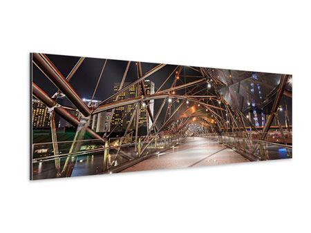 Aluminiumbild Panorama Brückenlichter