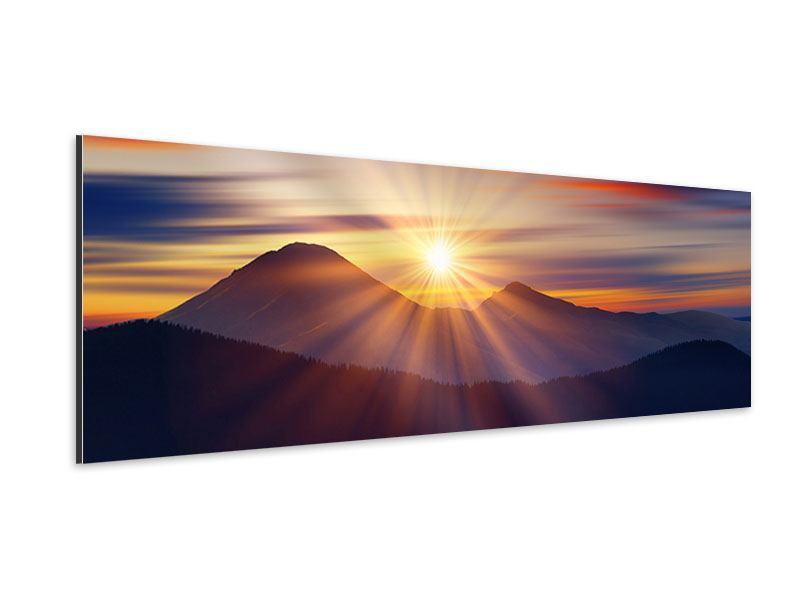 Aluminiumbild Panorama Märchenhafte Landschaft
