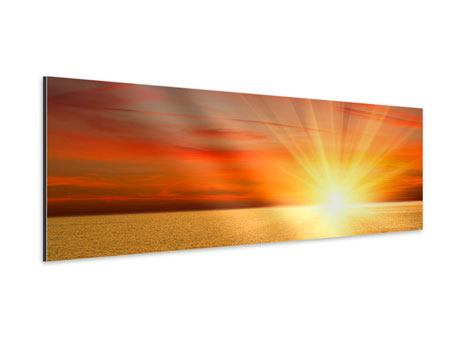 Panoramic Aluminium Print The Sunset