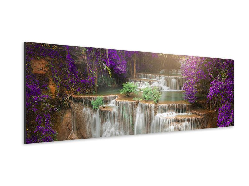 Aluminiumbild Panorama Garten Eden