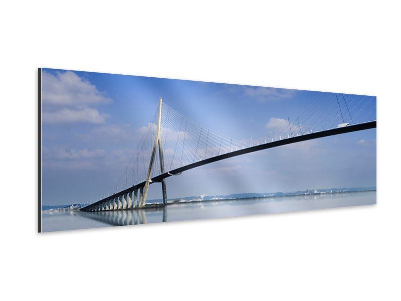 Aluminiumbild Panorama Die Pont de Normandie