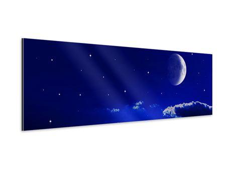 Aluminiumbild Panorama Der Nachthimmel
