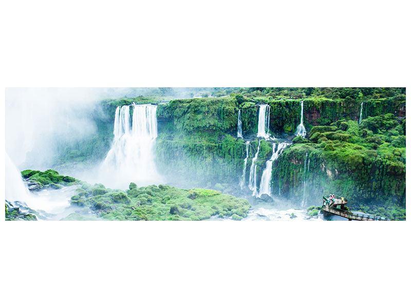 Aluminiumbild Panorama Wasserfälle