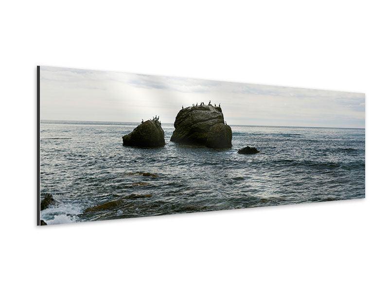 Aluminiumbild Panorama Leise Wellen