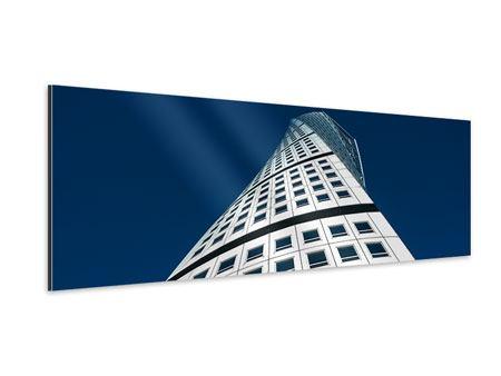 Aluminiumbild Panorama Meisterstück Wolkenkratzer