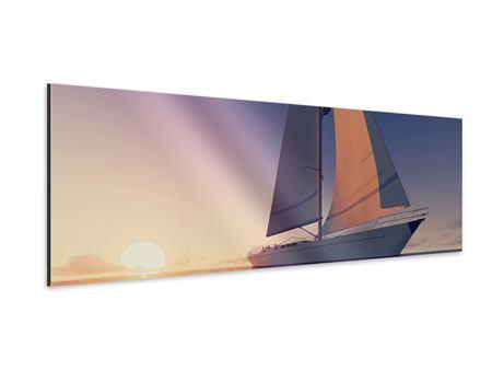 Aluminiumbild Panorama Das Segelschiff