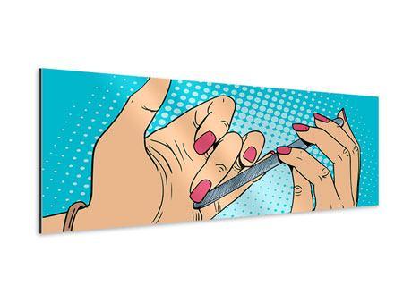 Aluminiumbild Panorama Pop Art Nails