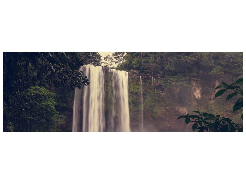 Aluminiumbild Panorama Wasserfall in Mexiko