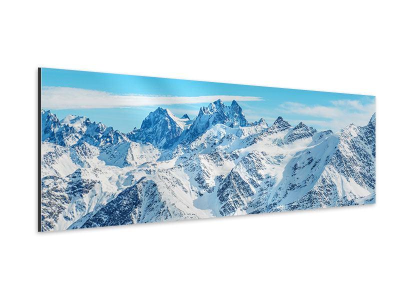 Aluminiumbild Panorama Alpenpanorama