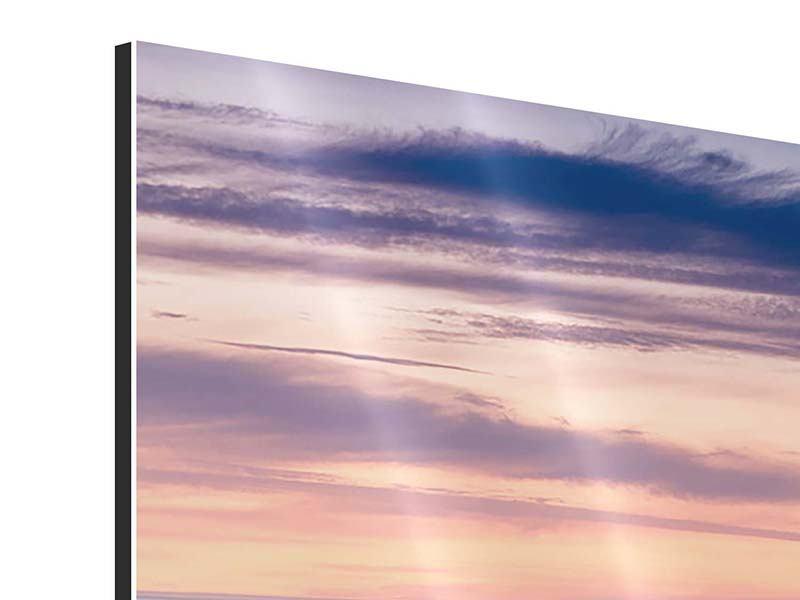 Aluminiumbild Panorama Felsen in der Brandung