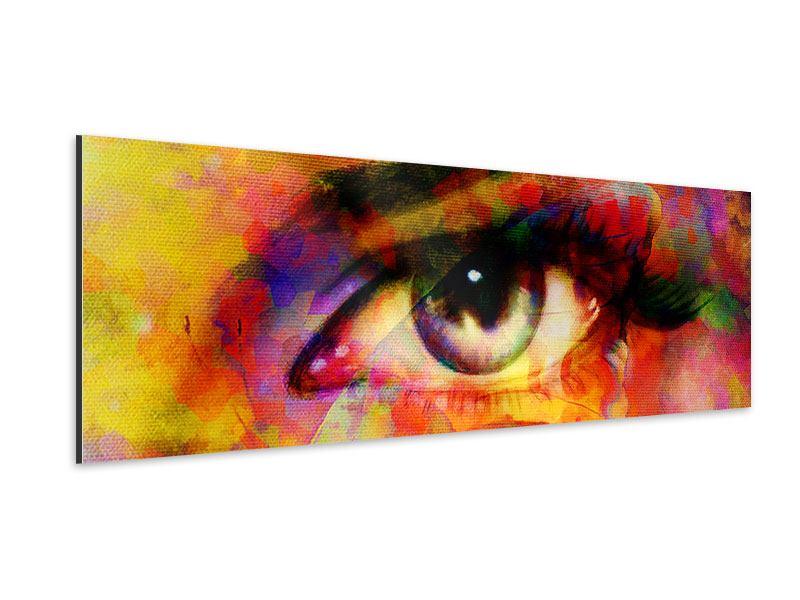 Aluminiumbild Panorama Das Auge
