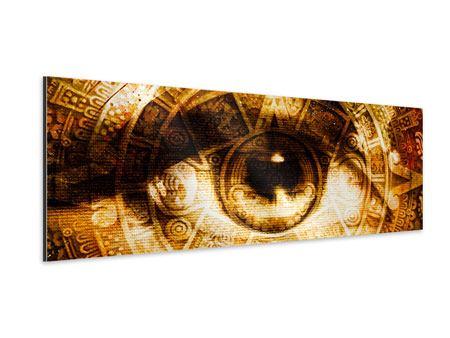 Aluminiumbild Panorama Fraktales Auge