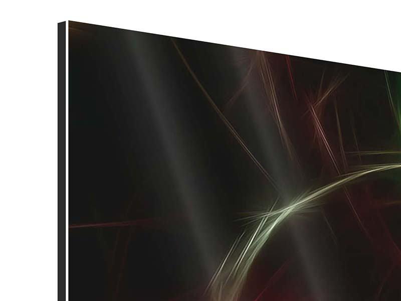 Aluminiumbild Panorama Fraktales Lichtspektakel