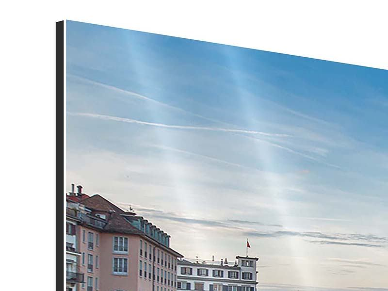 Aluminiumbild Panorama Kosmopolitisches Zürich