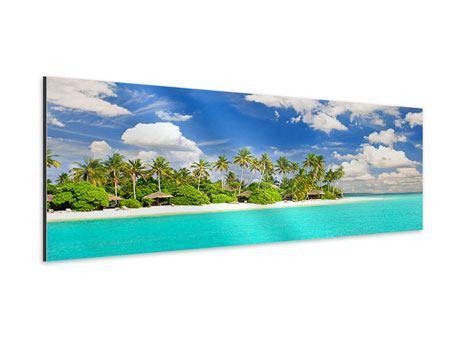 Aluminiumbild Panorama Meine Insel