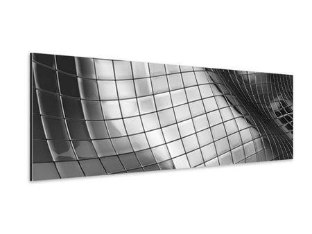 Aluminiumbild Panorama Abstrakter Stahl