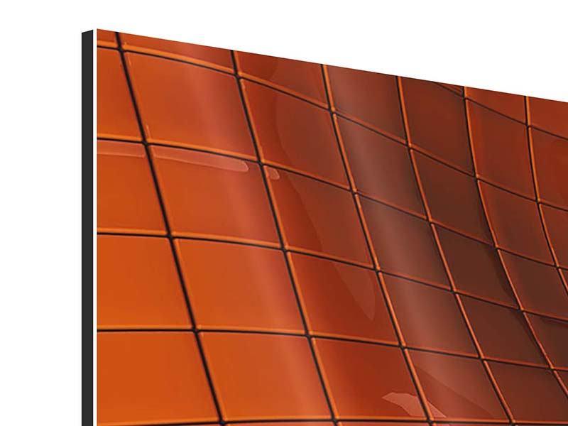 Aluminiumbild Panorama 3D-Kacheln