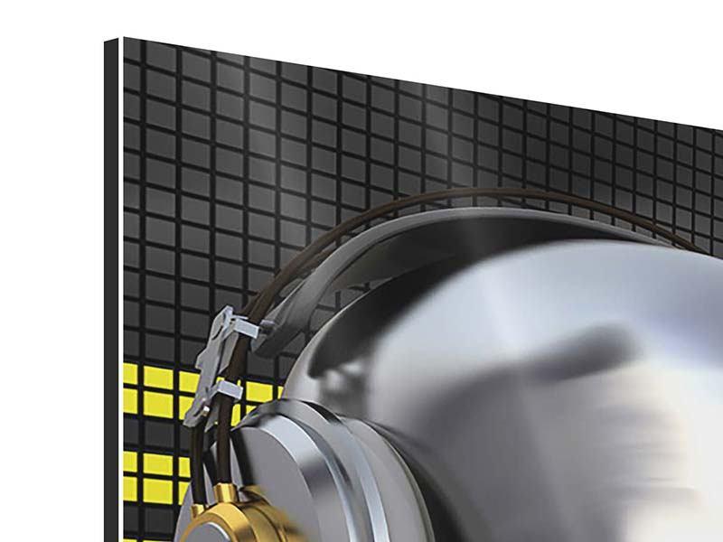Aluminiumbild Panorama Futuristischer DJ