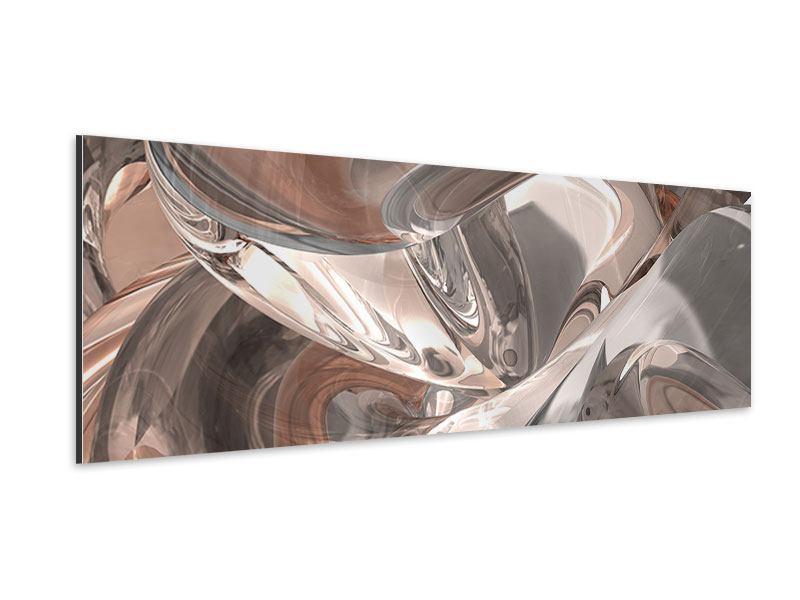Aluminiumbild Panorama Abstraktes Glasfliessen