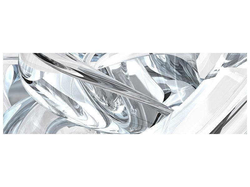 Aluminiumbild Panorama Abstrakte Glasbahnen