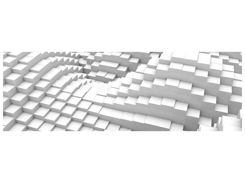Aluminiumbild Panorama 3D-Elemente