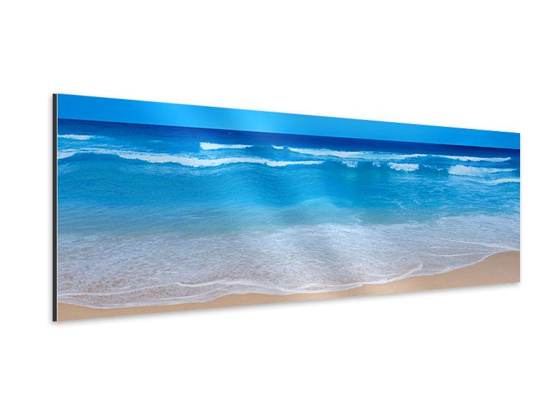 Aluminiumbild Panorama Sanfte Strandwellen