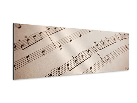 Aluminiumbild Panorama Das Notenblatt