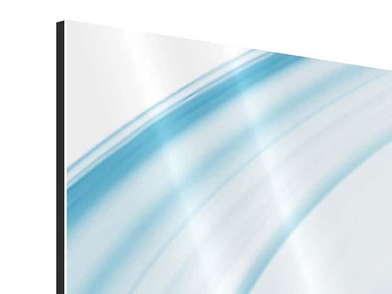 Aluminiumbild Panorama Abstraktes Glas