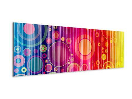 Aluminiumbild Panorama Grunge-Retrokreise