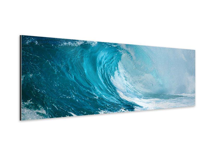 Aluminiumbild Panorama Die perfekte Welle