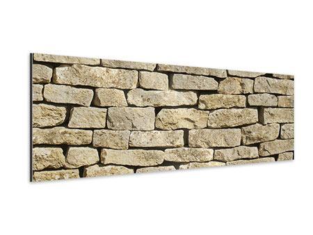 Aluminiumbild Panorama Alte Mauer
