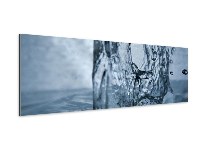 Aluminiumbild Panorama Wasserdynamik